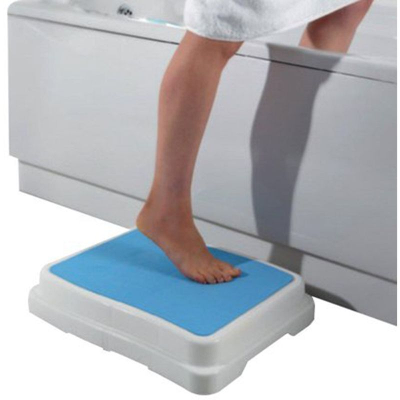 Wide Platform Indoor Lightweight Non-Slip Shower Half Step Stool-Daily Steals