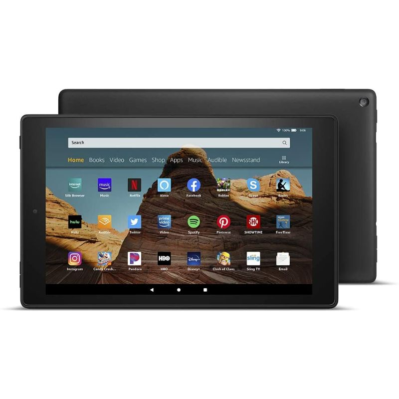 "Fire HD 10 Tablet 10.1"" 1080p full HD display, 32 GB - Latest Model, 9th Generation, Ad Supported"