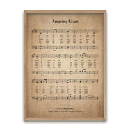 Amazing Grace Biblical Hymn Decorative Print-Dark Vintage-12x16-Daily Steals