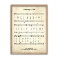 Amazing Grace Biblical Hymn Decorative Print-Light Vintage-8x10-Daily Steals
