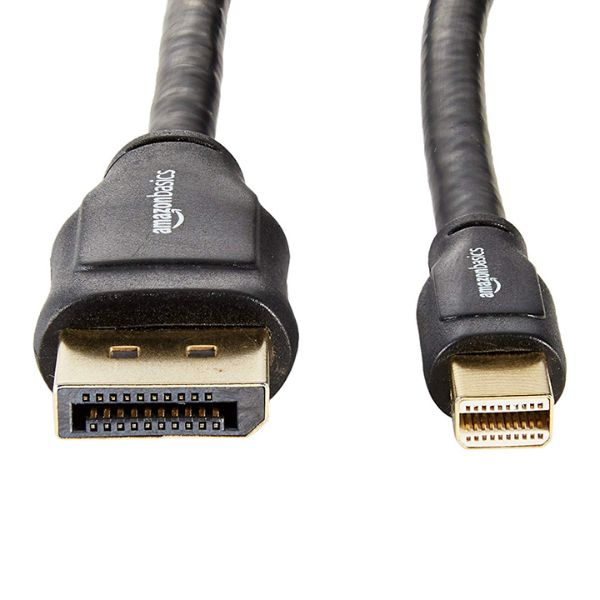 AmazonBasics Mini DisplayPort to DisplayPort 6' Cable - 2 Pack-Daily Steals