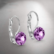 "Amethyst Mini Baby 0.8"" in 18K White Gold Filled with Swarovski Crystals-Daily Steals"