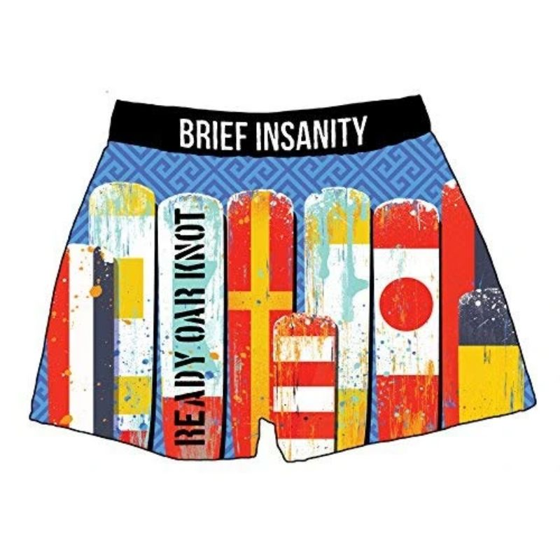 "Men's Boxer Briefs ""Ready or Knot Boating Sailing""-2XL-Daily Steals"