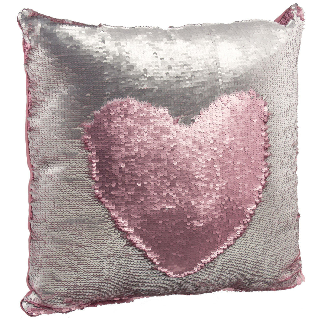 "[2-Pack] Amy Miller 17"" Sequin Mermaid Pillows-Pink/Silver-Daily Steals"
