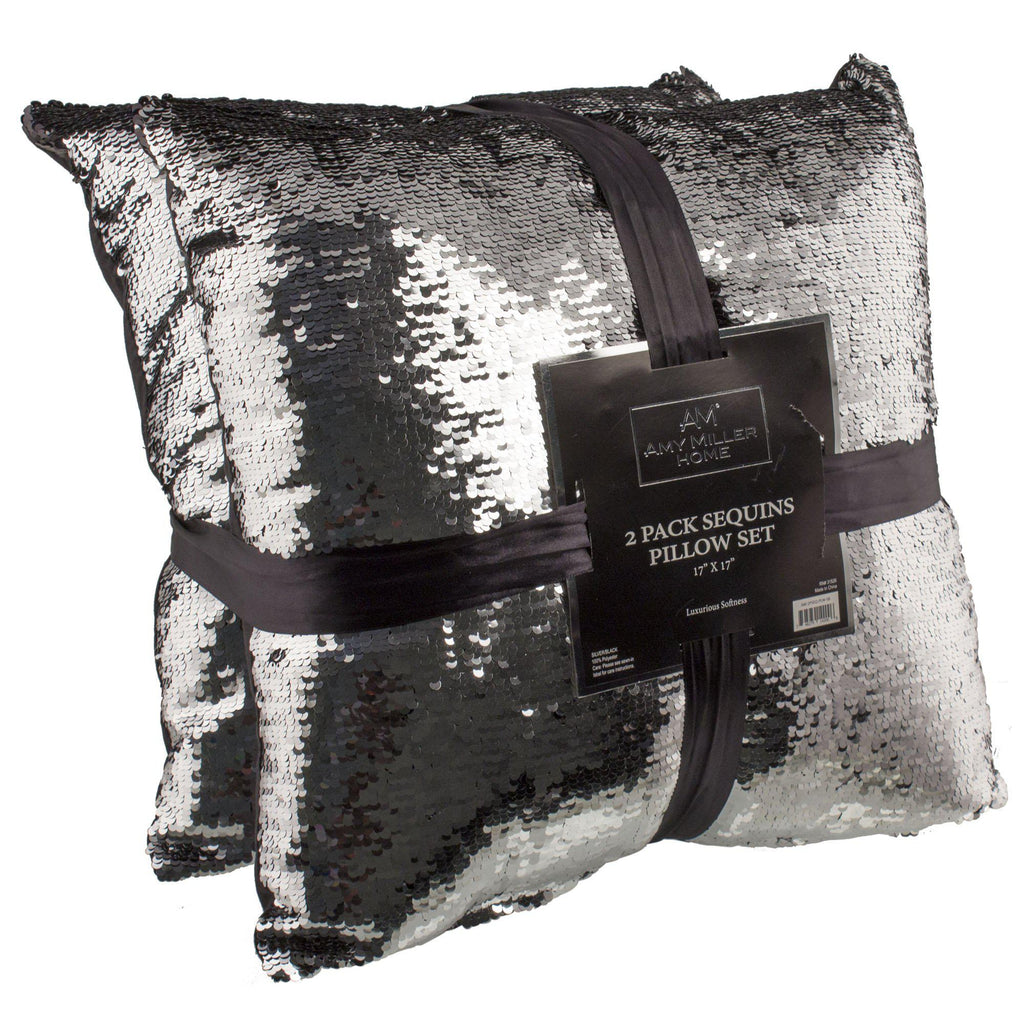 "[2-Pack] Amy Miller 17"" Sequin Mermaid Pillows-Daily Steals"