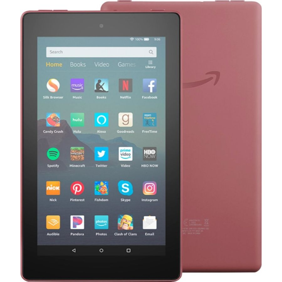 "Fire 7 Tablet (7"" display, 16 GB) with Special Offers-Plum-Daily Steals"