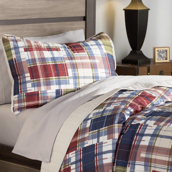Daily Steals-Andover Mills 90GSM Wrinkle-Resistant Sheet Set (3-Piece or 4-Piece)-Home and Office Essentials-Multi-FULL Plaid-