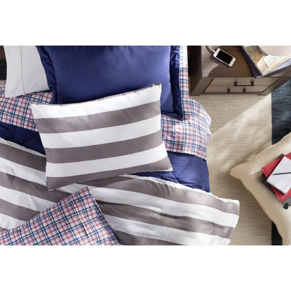 Daily Steals-Andover Mills 90GSM Wrinkle-Resistant Sheet Set (3-Piece or 4-Piece)-Home and Office Essentials-Multi-TWIN XL Plaid-