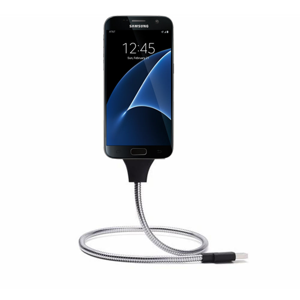 Daily Steals-Flexible Cable Charger Mount- For iPhone and Android Devices-Cell and Tablet Accessories-