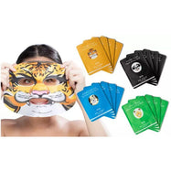 Animal Face Sheet Masks (Dog, Tiger, Panda, or Sheep) - 4 Pack-Dog (Skin Repair)-