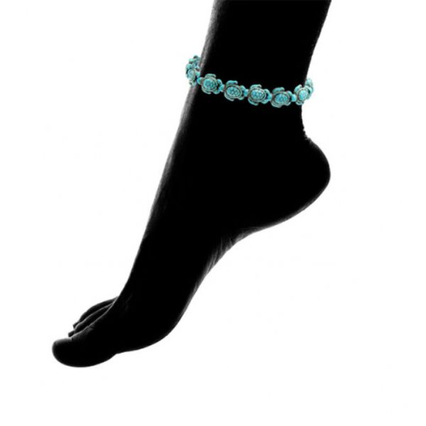 Turquoise Handmade Hawaiian Sea Turtles Anklet-Daily Steals