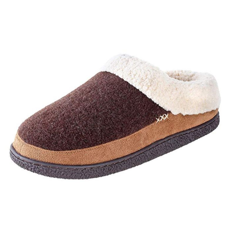 Willowbee Evelyn Suede Slippers for Women-Brown/Tan-6-7-Daily Steals