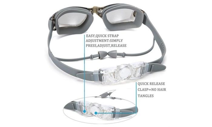 Daily Steals-Anti-Fog Swim Goggles with Earplugs-Accessories-