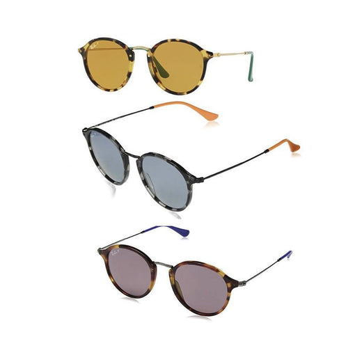 1ff3e775d Ray-Ban Round Fleck Pop Polarized Sunglasses– Daily Steals