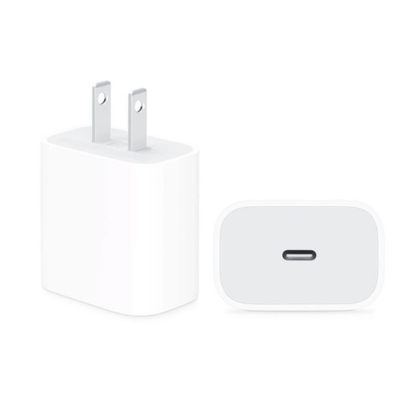 Apple 18W USB C Power Adapter plus USB C to Lightning 1M Cable Bundle - 1 or 2 Pack