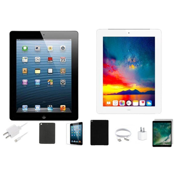 Apple iPad 4 Retina Bundle with Case, Charger & Screen Protector-Black 16GB-