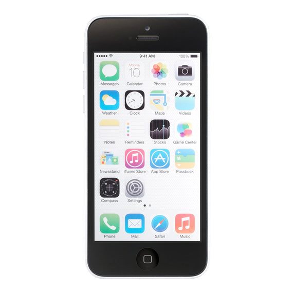 Apple iPhone 5c 8GB Låst upp GSM 4G LTE-telefon w / 8MP-kamera - White-Daily Steals