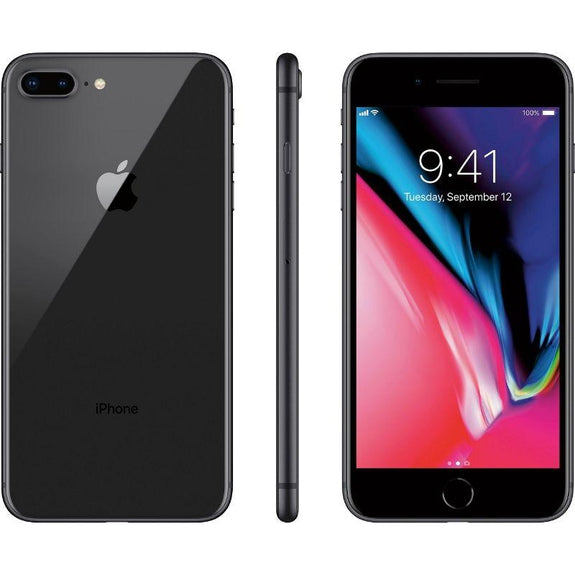 Apple iPhone 8 Plus 64GB Factory Unlocked Smartphone-Black-