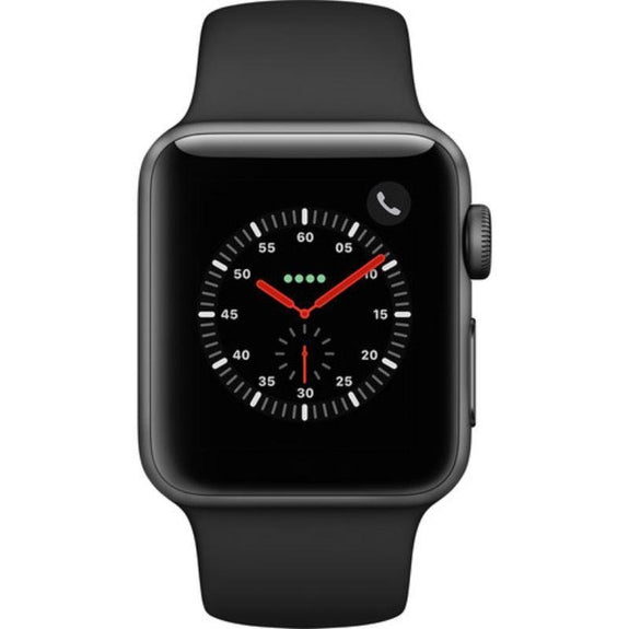 Apple Watch Series 3 42mm Smartwatch (GPS + Cellular, Black Sport Band)-Daily Steals