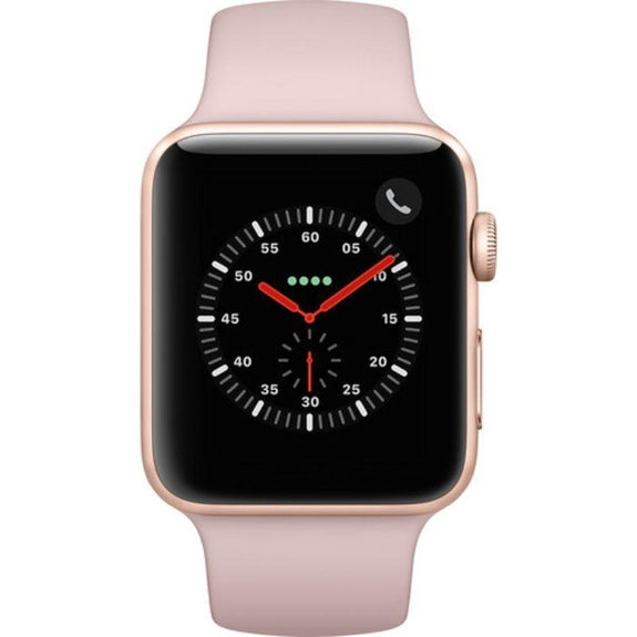 Apple Watch Series 3 42mm Smartwatch (GPS + Cellular, Gold Aluminum Case)-Daily Steals