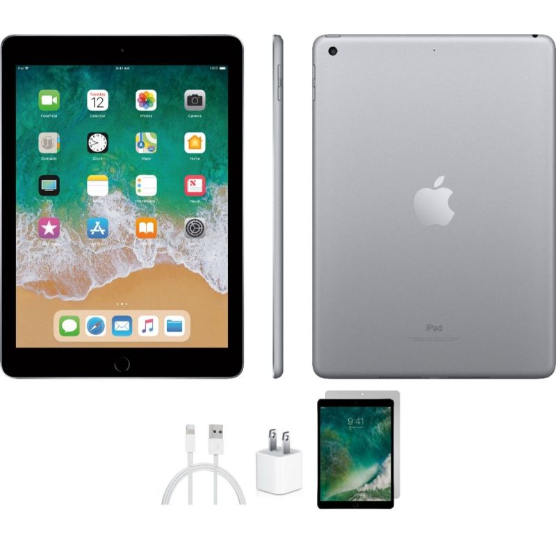 Apple iPad 5 32GB or 128GB Space Gray with Wifi Bundle