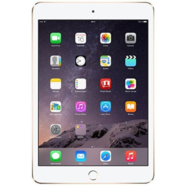 Apple iPad mini 3 (16 Go, Wi-Fi + GSM / CDMA débloqué) - Gold-Daily Steals