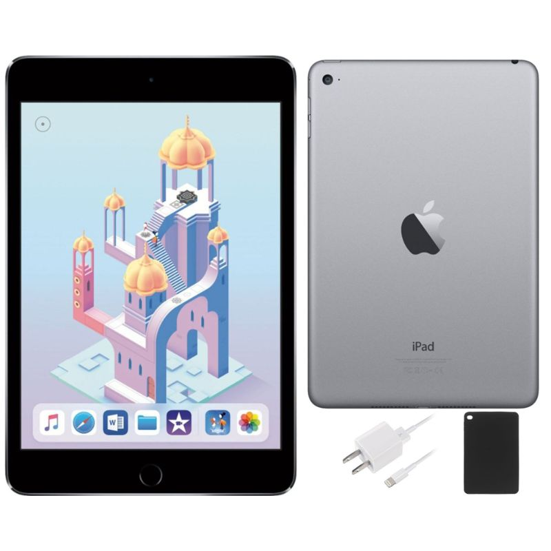 Apple iPad Mini 4 64GB with Retina Display, Wi-Fi+GSM/CDMA Unlocked Bundle-Daily Steals