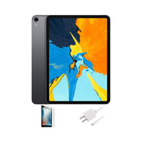 Apple iPad Pro 11-inch, Wi-Fi, 64GB with Tempered Glass and Charger - Space Gray
