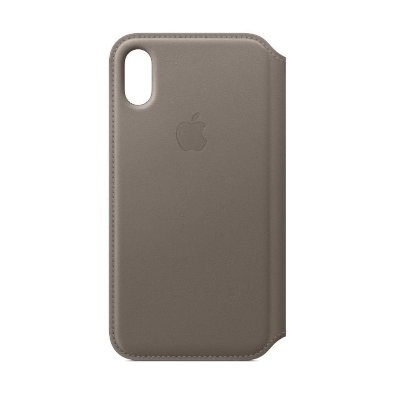 Apple Leather Folio for iPhone X/Xs-Taupe-Daily Steals
