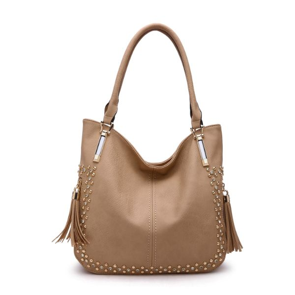 MKF Collection Betsy Shoulder Bag by Mia K. Farrow-Apricot-Studded-Daily Steals