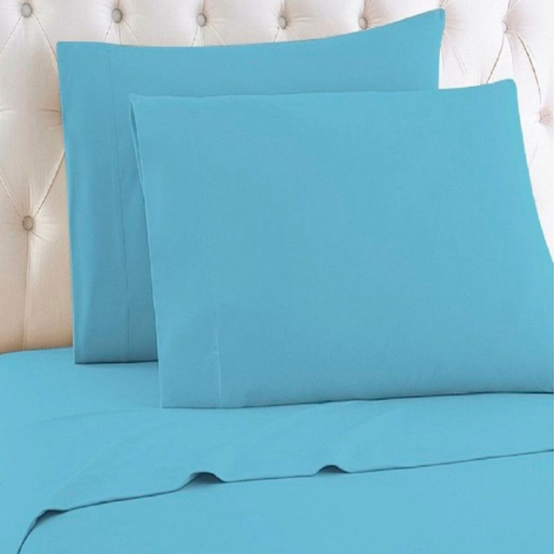 [4-Piece] Luxurious 1,000 Thread Count Egyptian Cotton Sheet Sets-Aqua-Queen-Daily Steals
