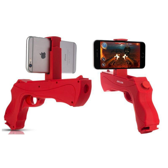 AR Gun Portable Game Controller for iOS and Android Smartphones-Blue-