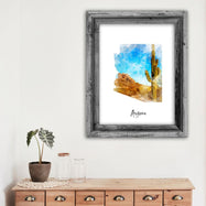 "Arizona Watercolor Map Print - Unframed Art Print-11""x14""-Vertical/Portrait-Daily Steals"