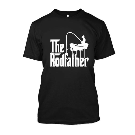 Adult Rodfather Funny Fishing Father/Grandfather T-Shirt - 8 Color Options-Daily Steals