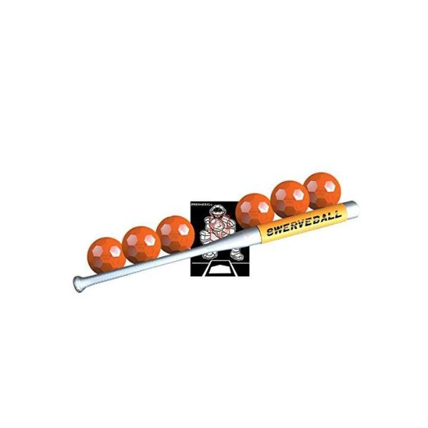 As Seen on TV Swerve Ball Starter Set - Includes 6 Swerve Balls, 1 Strike Zone and 1 Sweet Spot Bat Sleeve-Daily Steals