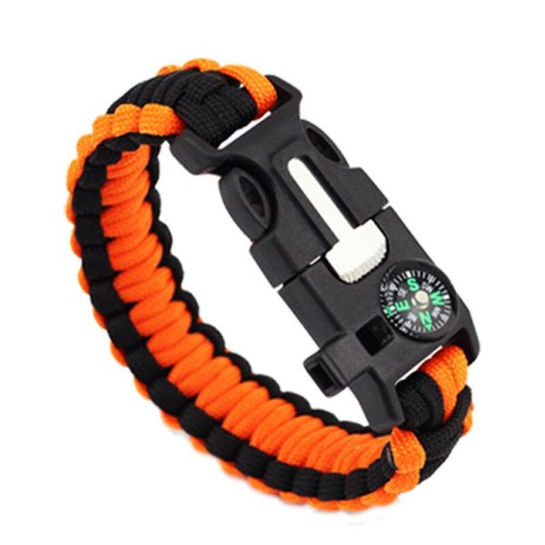 Daily Steals-5-in-1 Survival Bracelet - 2 Pack-Outdoors and Tactical-Orange-