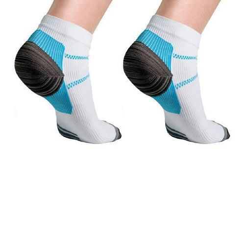 [6-Pairs] Unisex Ankle Compression Socks - Assorted Colors-Daily Steals