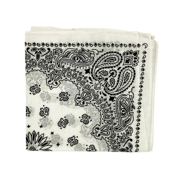 Assorted Bandanas Paisley 100% Cotton Washable Cloth Face Mask - 1 Dozen-Dark Colors - Assorted-
