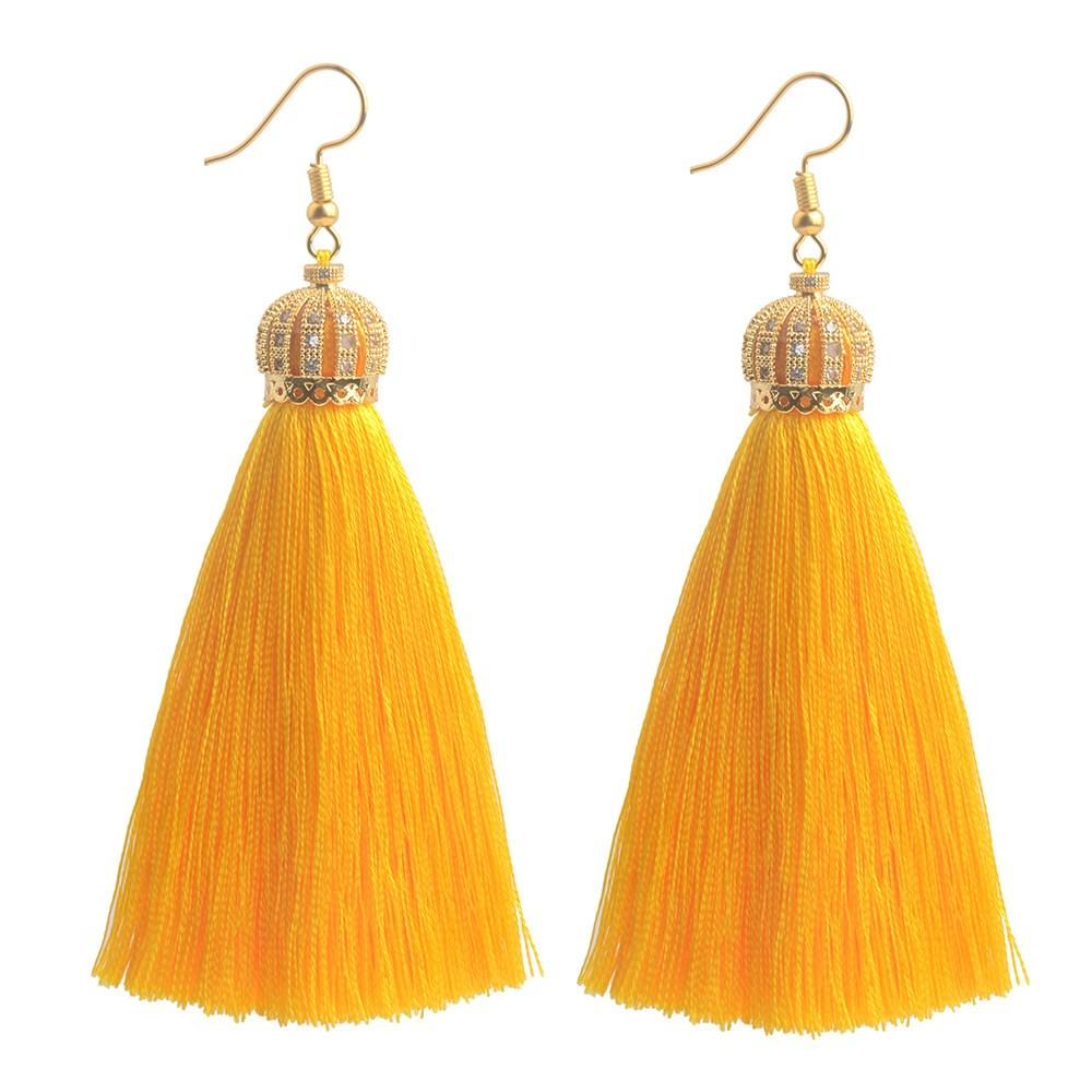 Daily Steals-Assorted Two Pack Crown Tassel Earrings-Jewelry-