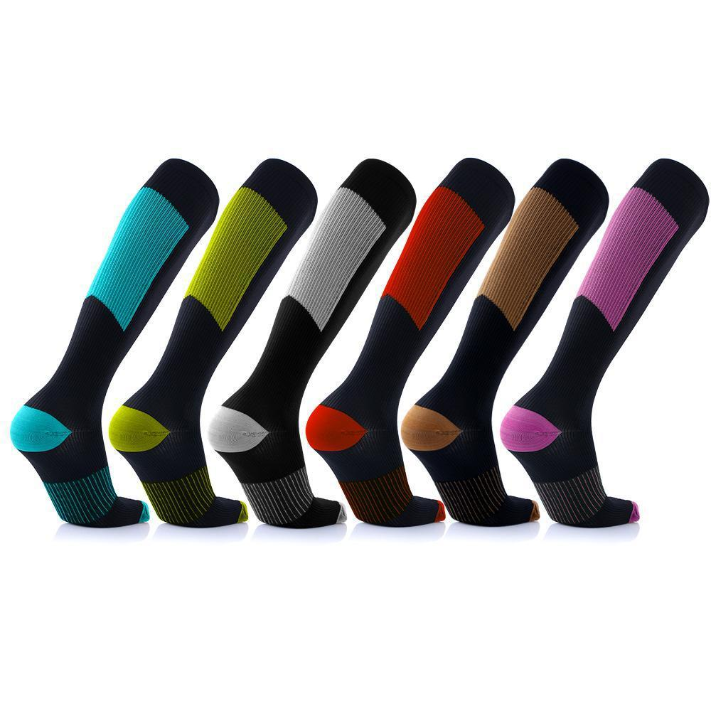 [6-Pairs] Unisex Copper-Infused Compression Socks - Assorted Colors-S/M-Daily Steals
