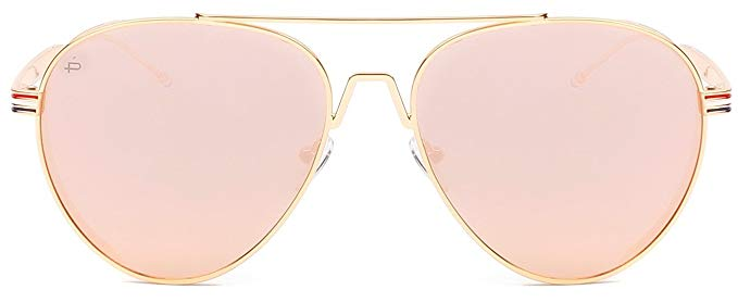 "PRIVÉ REVAUX ICON Collection ""The G.O.A.T"" Designer Polarized Aviator Sunglasses-Pink-Daily Steals"