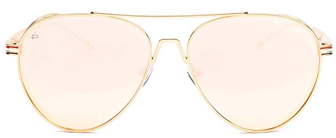 "PRIVÉ REVAUX ICON Collection ""The G.O.A.T"" Designer Polarized Aviator Sunglasses-Rose Gold-Daily Steals"