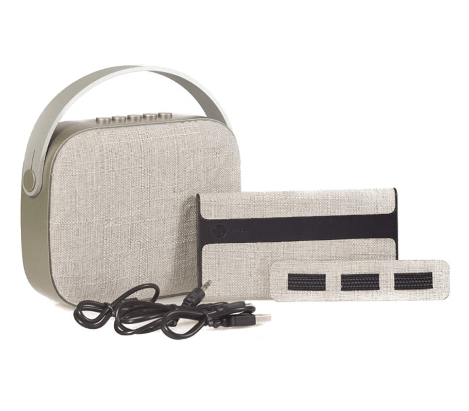 3-Piece Gift Set with Bluetooth Clutch Speaker & 4000mAh Power Bank-Grey-Daily Steals