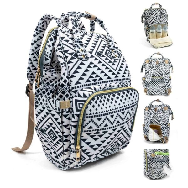 Diaper Bag Backpack- 9 Colors-Aztec-Daily Steals