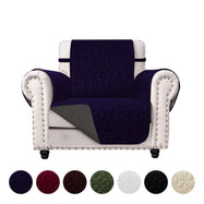 Reversible Quilted Microfiber Furniture Pet Protector Cover-Navy/Grey-Chair-Daily Steals