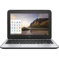 Daily Steals-HP ChromeBook 11 G4 EE: 11.6-inch (1366x768) Intel Celeron N2840 2.16GHz, Gray-Laptops-