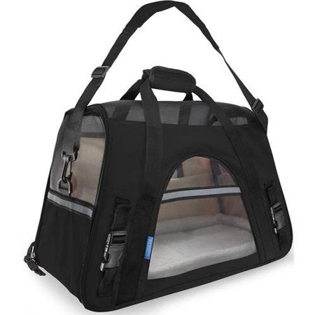 OxGord Soft Sided Cat/Dog Pet Carrier - FAA Airline Approved-Black-Small-Daily Steals