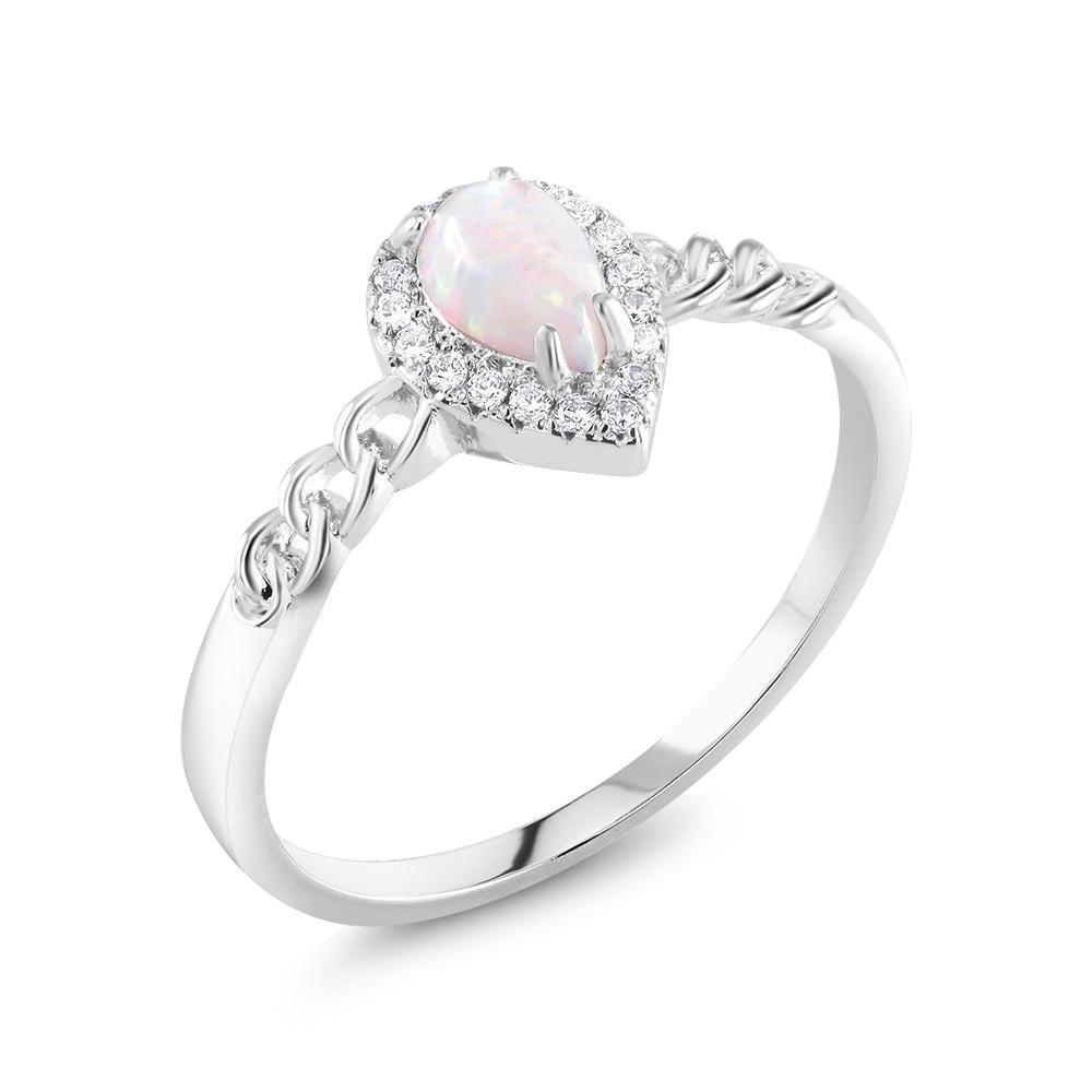 Genuine Gemstone Pear Shaped Ring-Size 6-Daily Steals