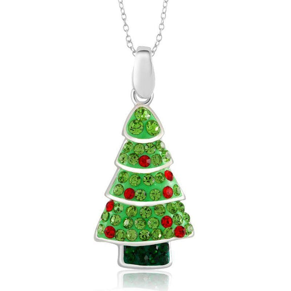 Crystal Holiday Necklace-Tree-Daily Steals