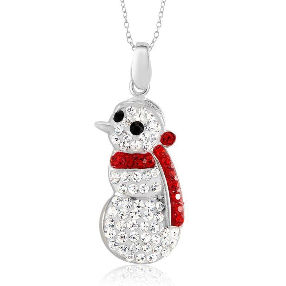Crystal Holiday Necklace-Snowman-Daily Steals